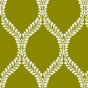 Regal Leaves Inversed Chartreuse