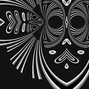 White Mask on Black