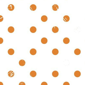 Distressed Dots in Orange