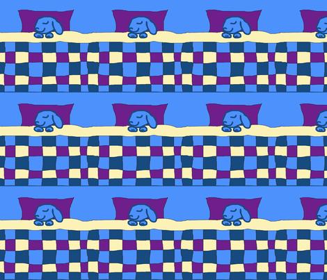Sleepy Blue Bunny fabric by serenity_ii on Spoonflower - custom fabric