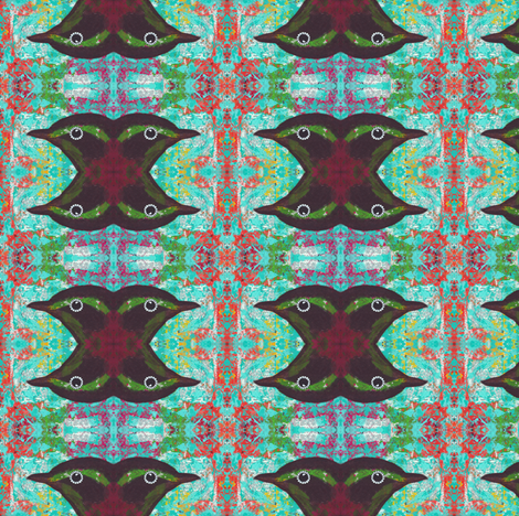Bird's Head Revisited fabric by peaceofpi on Spoonflower - custom fabric