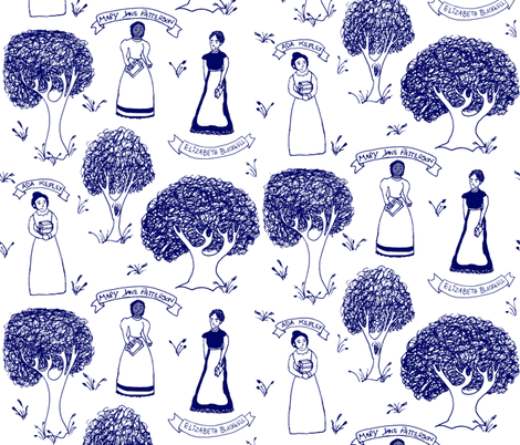 Pioneers in Women's Education fabric by pond_ripple on Spoonflower - custom fabric