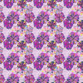 Pink and Violet Floral with Ikat Petite