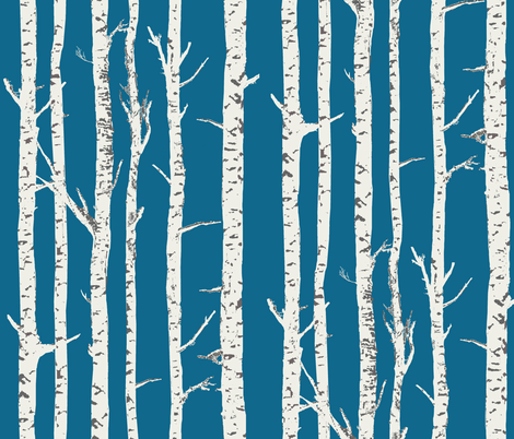 birch trees fabric by katarina on Spoonflower - custom fabric
