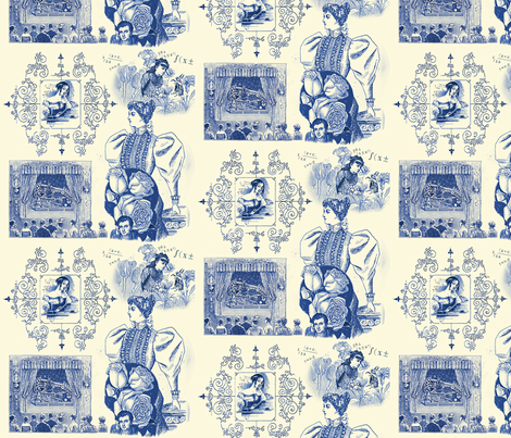Ada Lovelace Toile fabric by goodluckhoney on Spoonflower - custom fabric