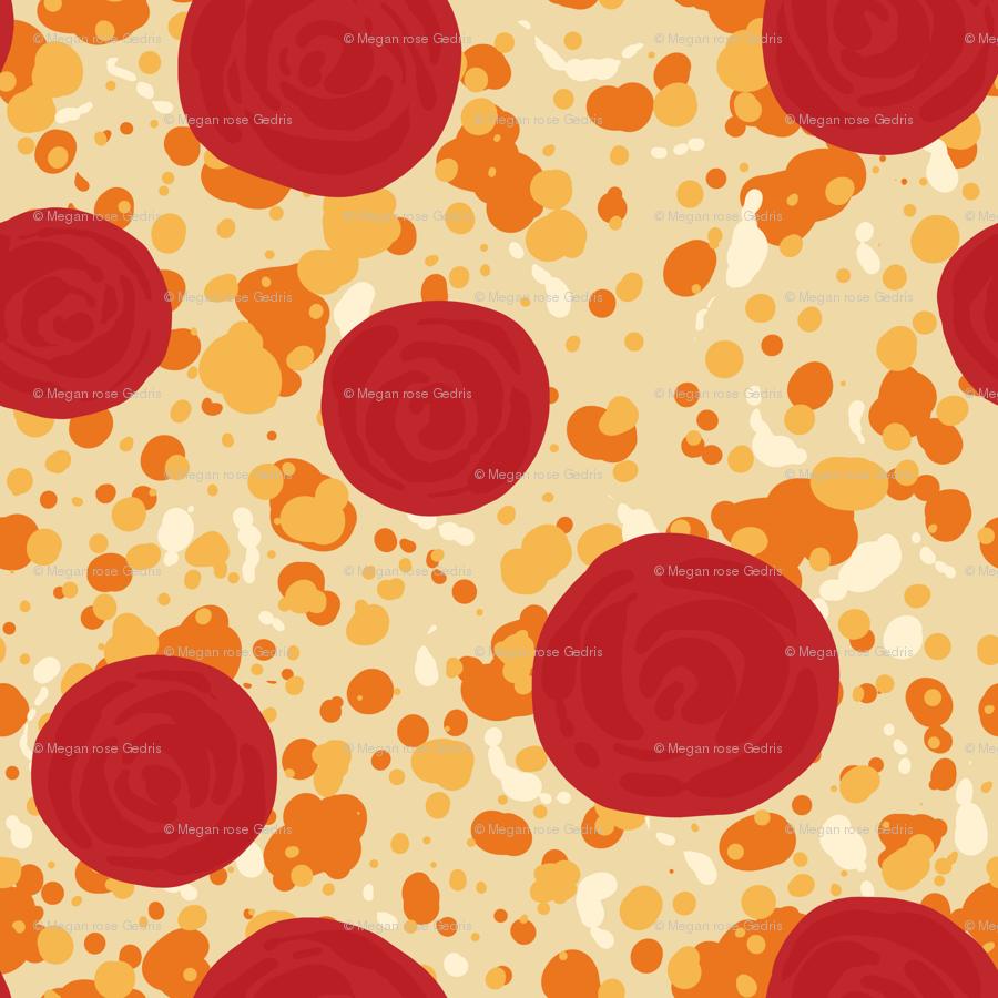 Pepperoni Pizza wallpaper - rosalarian - Spoonflower