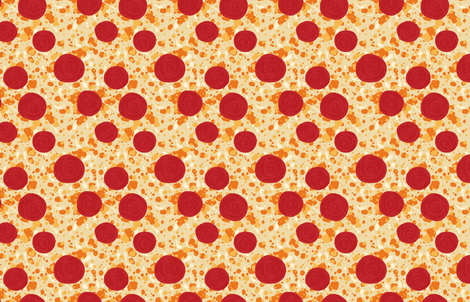 Pepperoni Pizza fabric by rosalarian on Spoonflower - custom fabric