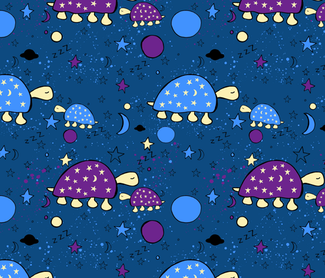 Dreaming Starturtles fabric by lisabarbero on Spoonflower - custom fabric