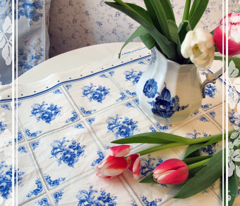 Blue Tiles Tea Towel
