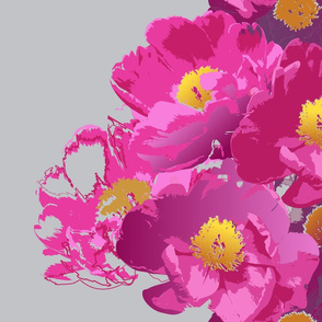 Summerrose fuchsia peony