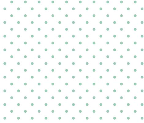 Mint Polka fabric by mrshervi on Spoonflower - custom fabric