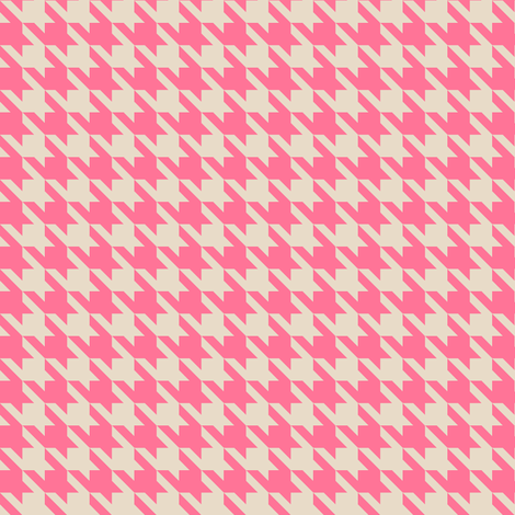 Houndstooth pink fabric by samdraws on Spoonflower - custom fabric
