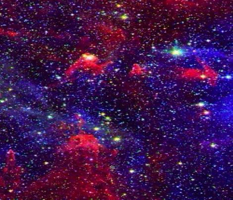 galaxy fabric by alchemybynight on Spoonflower - custom fabric