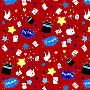 Magic / Magician pattern in red