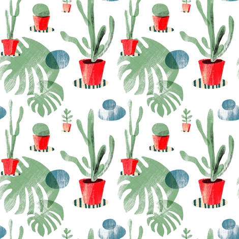 Plants fabric by wideeyedtree on Spoonflower - custom fabric