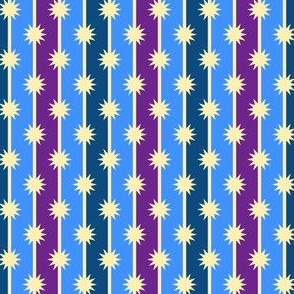 starry bedtime pinstripe