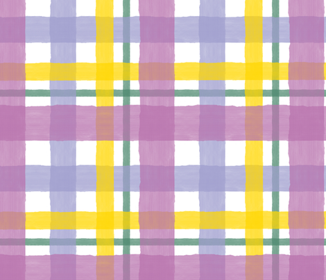 Plaid Orchid Summer fabric by emmie_norfolk on Spoonflower - custom fabric