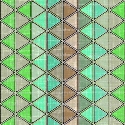 Linen Geometric Triangle Carribbean