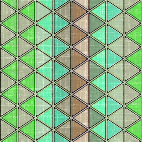 Linen Geometric Triangle Carribbean fabric by joanmclemore on Spoonflower - custom fabric