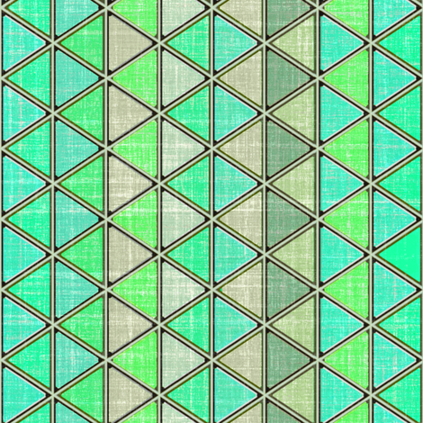 Triangles Tropic green  fabric by joanmclemore on Spoonflower - custom fabric