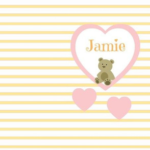 Pink Heart Tangerine Stripes-Personalized