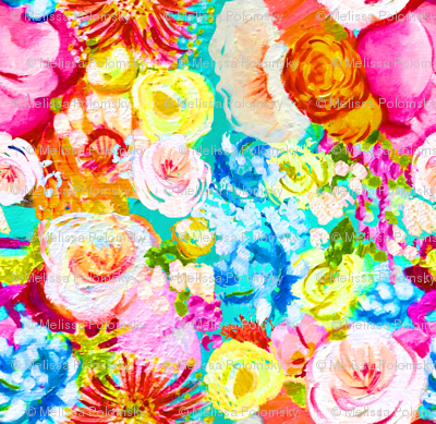 Neon Floral Painting