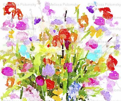 Summer Watercolor Floral Bouquet