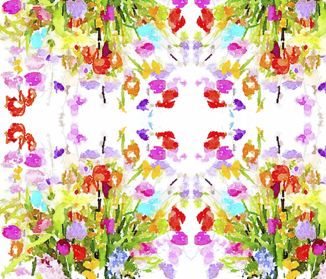 Summer Watercolor Floral Bouquet fabric by theartwerks on Spoonflower - custom fabric