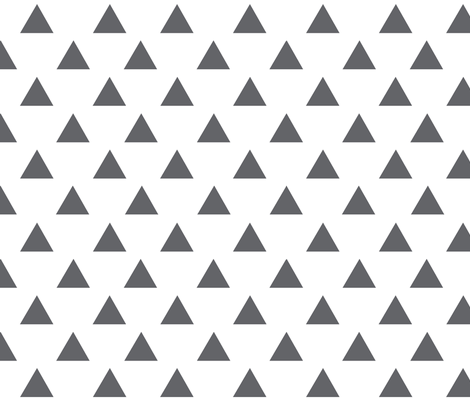 Charcoal Triangles Smaller fabric by hipkiddesigns on Spoonflower - custom fabric
