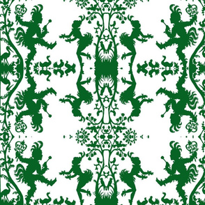 Papageno's Damask in Emerald