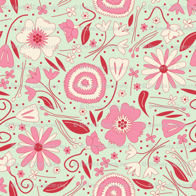 Fresh Floral Pinks SMALL