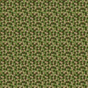 Camouflage Seamless Hearts