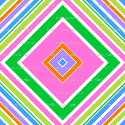 Spring Stripe Tile- large