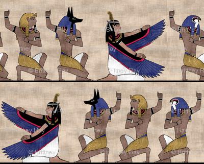 Egyptian gods on Papyrus