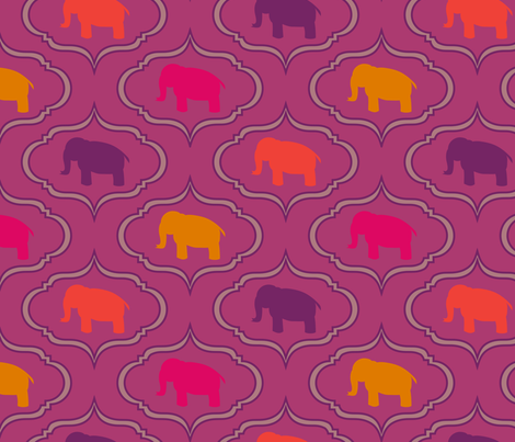Bold Orchid Elephant fabric by mrshervi on Spoonflower - custom fabric