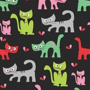 Cute Cat's in The Night