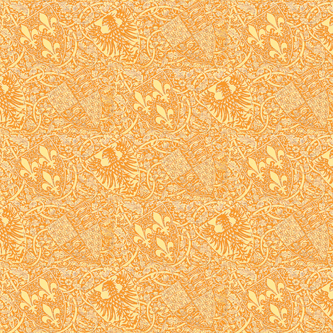 Blazons Gold fabric by amyvail on Spoonflower - custom fabric