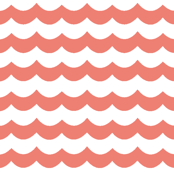 Coral Chevron Waves