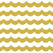 Gold Chevron Waves