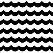 Black Chevron Waves