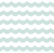 Mint Chevron Waves