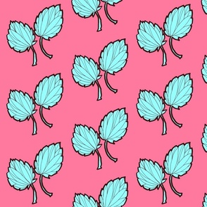 Leaves with Pink