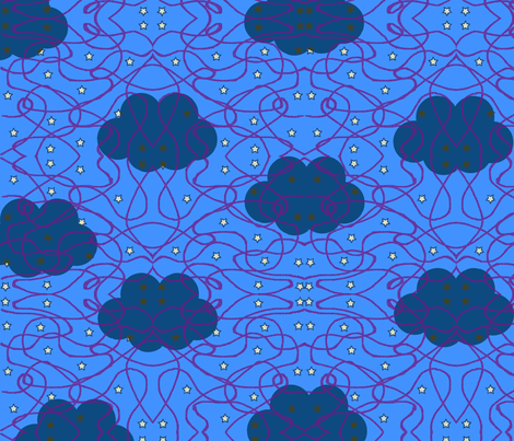 clouds fabric by jessica_good1 on Spoonflower - custom fabric