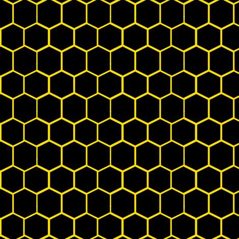 Black and Yellow Beehive Honeycomb Hexagon fabric - bohobear ...