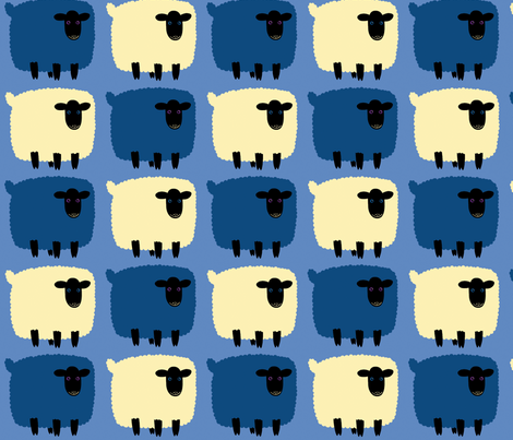 Comptons les moutons fabric by evachatelain on Spoonflower - custom fabric