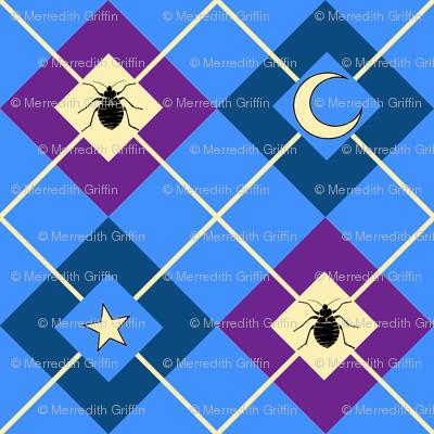 Bed Bug Argyle blue