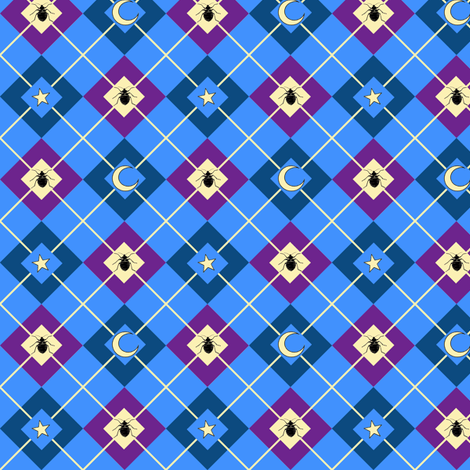 Bed Bug Argyle blue fabric by sufficiency on Spoonflower - custom fabric