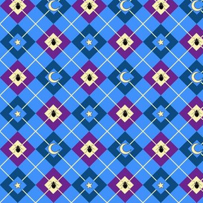 Bed Bug Argyle blue
