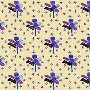 Dancing_lavender flowers_on beige