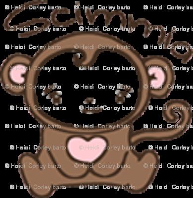 Monkey Blythe Sized - White